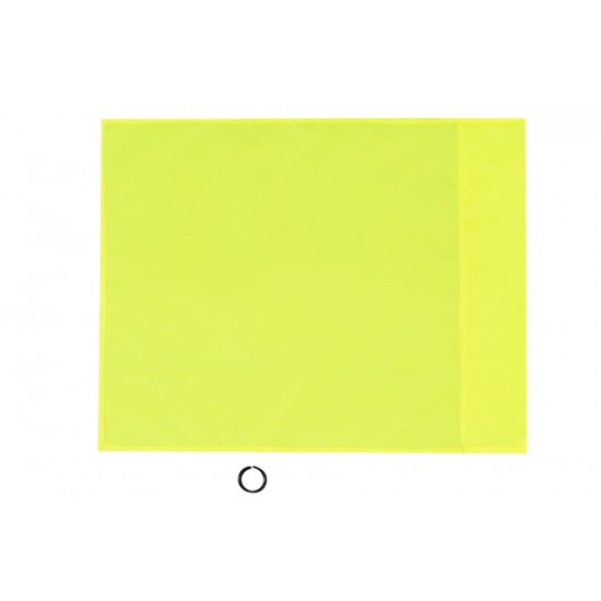 CORNER SET FLAGS + CLIPS (12 Flags + 12 Clips) Yellow Fluo (12 Pz)