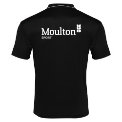 Moulton College Draco Polo Shirt Black Football