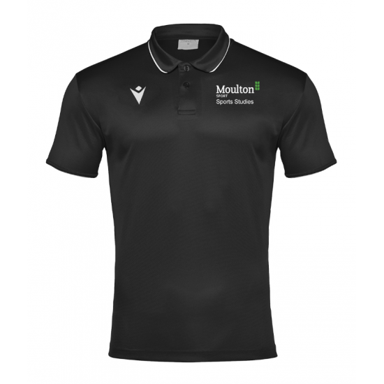Moulton College Draco Polo Shirt Black Sports
